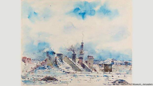 Моритц Мюллер, *Крыши зимой*, 1944