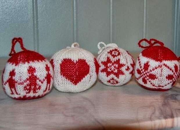 Вяжем елочные шары в Норвежском стиле