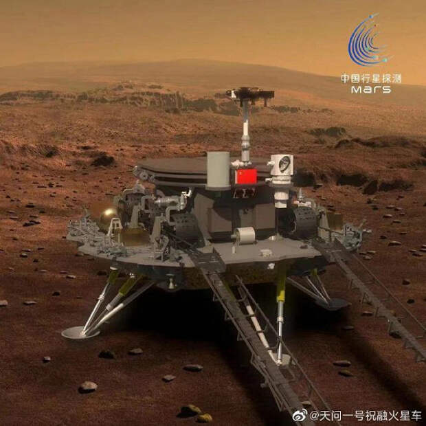 Так китайский марсоход оказался на Красной планете. Опубликовано видео симуляции полета и приземления ровера Zhurong