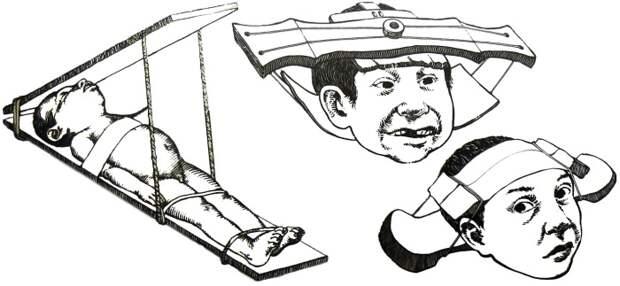 Три способа для придания формы детской голове, культура майя. | Фото: tomboybklyn.com.