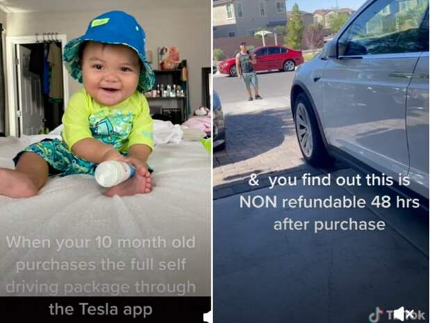 10-месячный ребёнок купил обновление за 10 000 долларов для Tesla