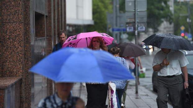 Гроза и ливень накроют Москву в ближайший час