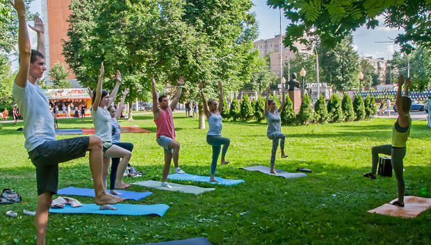 В парке Талалихина в Подольске 28 июня проведут бесплатное занятие по йоге