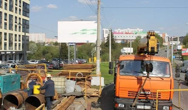 На улице 50 лет ВЛКСМ в Ижевске начался ремонт водопровода