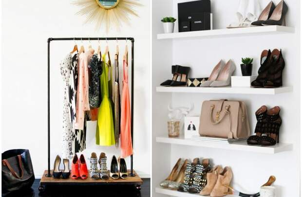 Хранение гардероба: 10 стильных и красивых идей