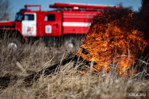 ВЕкатеринбурге загорелся дачный поселок