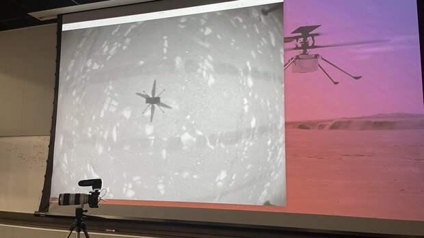 На Марсе впервые провели полет вертолета