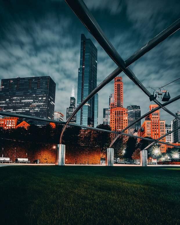 Чикаго на атмосферных снимках Бенджамина Сутера