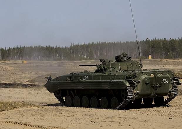 Военнослужащие отдельной танковой бригады и Ямпольского полка сдали контрольную проверку боевой готовности войск на полигоне «Мулино» в Нижегородской области