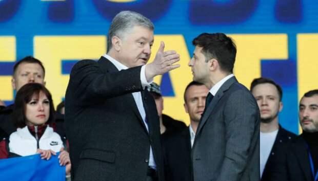 В соцсетях сравнили прошлый и нынешний рейтинги Зеленского и Порошенко