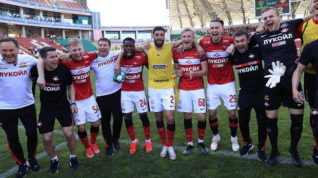 «Спартак» показал празднование выхода в Лигу чемпионов