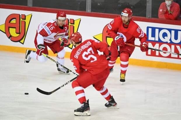 Белоруссия всухую проиграла РФ в матче группового тура ЧМ по хоккею