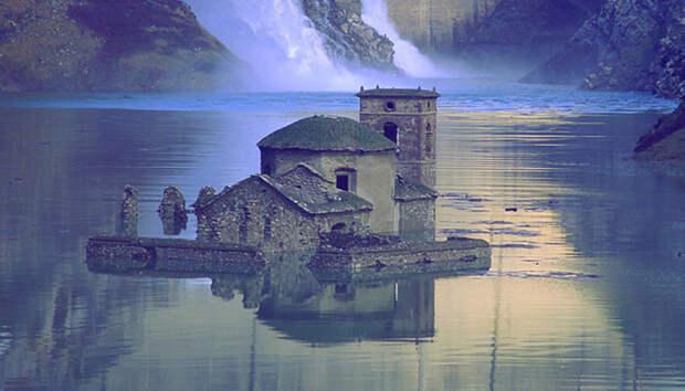 Почему затопленная средневековая деревня начала подниматься на поверхность