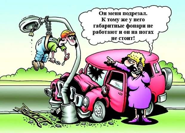 Тетя, не зевай за рулем! или Шрек, береги голову
