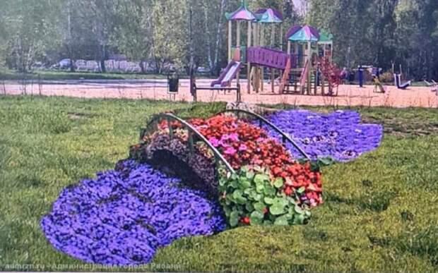 В Рязани в сквере «Вишнёвый сад» появится «Цветочный мостик»