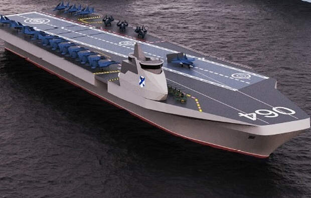 Россия представила внешний вид и характеристики нового авианосца
