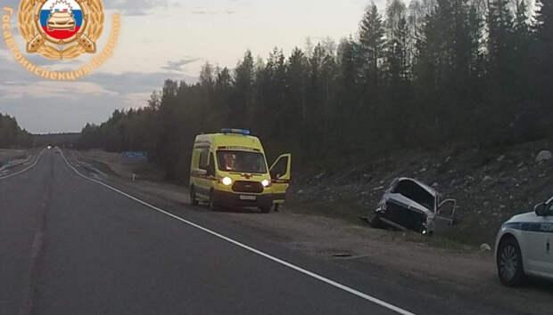 Водитель госпитализирован после ДТП на «Коле» в Карелии