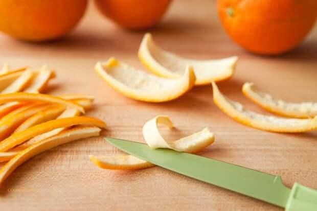 Апельсиновые корки в гардеробе