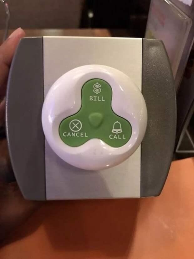 Табло с нужной кнопкой официанту поможет сразу определить, что вы от него хотите.   Фото: cpykami.ru.