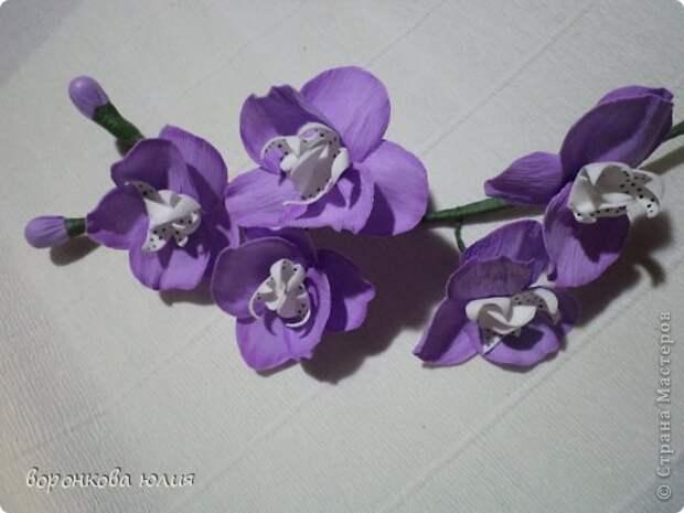 здравствуйте дорогие мастерицы.вот решила с вами поделиться тем , как я делаю цветок орхидеи. фото 31