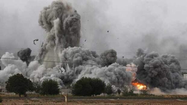 Турецкий джихадист снял удар российского бомбардировщика по себе