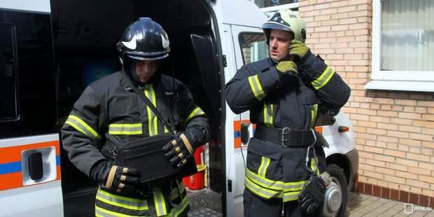 Пожарные потушили возгорание на Беговой