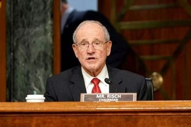 Председатель комитета по иностранным делам Сената США Джим Риш во время выступления в комитете, Вашингтон, США, 30 июля 2020 года. Greg Nash/Pool via REUTERS