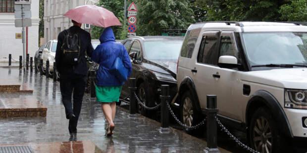 Москвичей предупредили о сильном дожде с грозой и градом в ближайшие часы