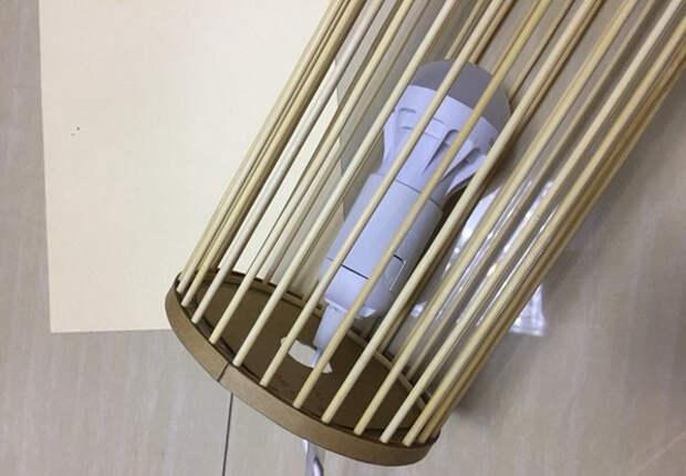 Светильник своими руками - из картона и шашлычных палочек (19) (598x415, 148Kb)