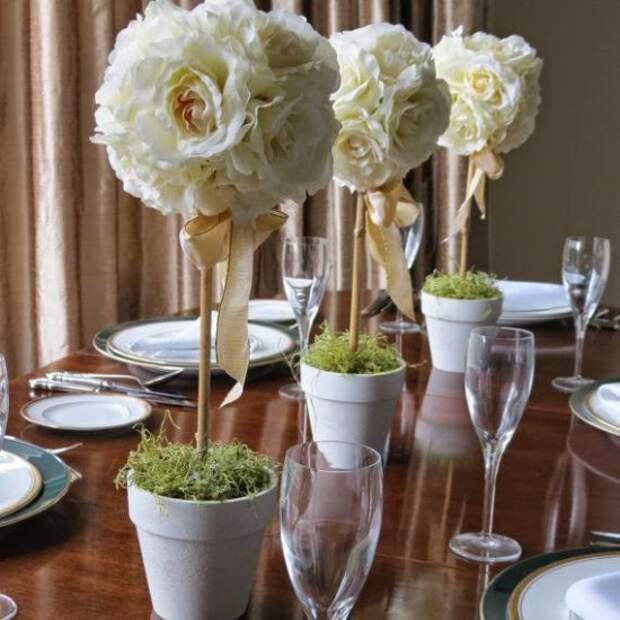 Топиарий для праздничной сервировки стола
