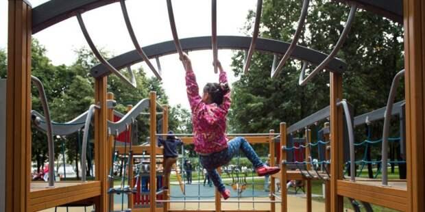 В парке «Левобережный» для посетителей снова доступны игровые комплексы