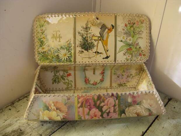Викторианский стиль корзина карта ручной работы старинных открыток потертый коттеджные женственной