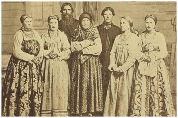Группа русских Западной Сибири, 1879 год Крестьяне, россия, старые фото