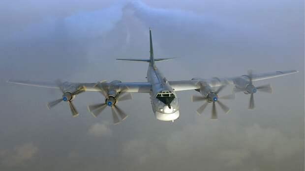 Российские бомбардировщики Ту-95МС выполнили плановый полет над Черным морем