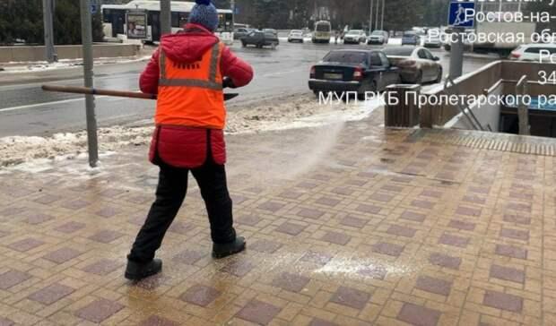 ВРостове из-за ледяного дождя коммунальщиков перевели врежим усиленной работы