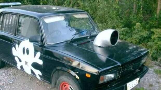 Именно так выглядят машины фанатов фильма «Форсаж» в России. золотые руки, народный креатив, русский тюнинг