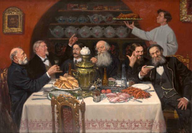 За открытый стол приглашали подчиненных и однополчан. /Фото: pbs.twimg.com
