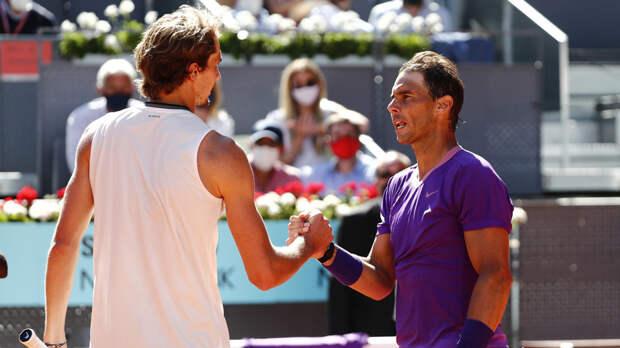 Надаль проиграл Звереву в полуфинале турнира ATP в Мадриде