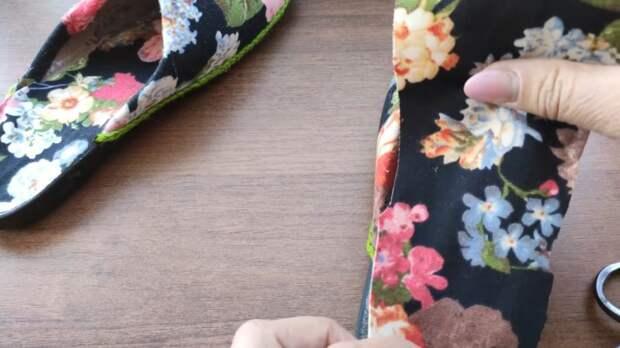 Отличная идея для дома: красивое преображения любимых тапочек