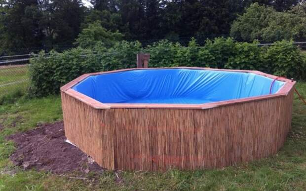 Самодельный бассейн из поддонов