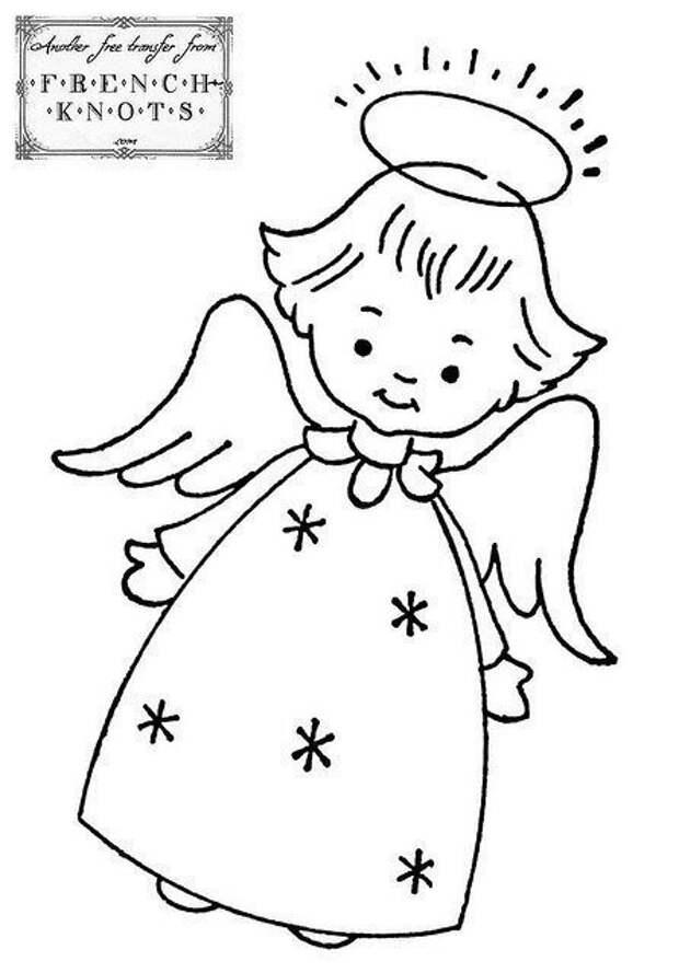 Фетровые ангелочки с выкройками