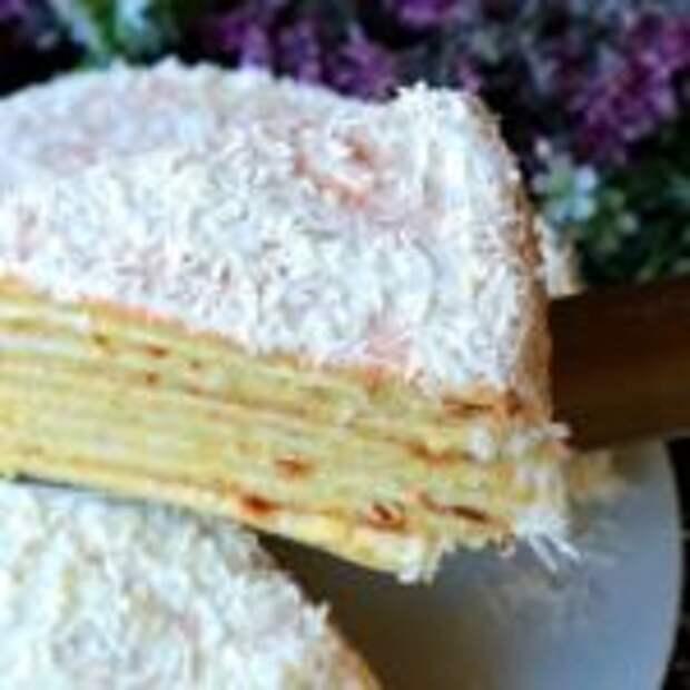 Знаменитый торт «Сметанник» на сковороде