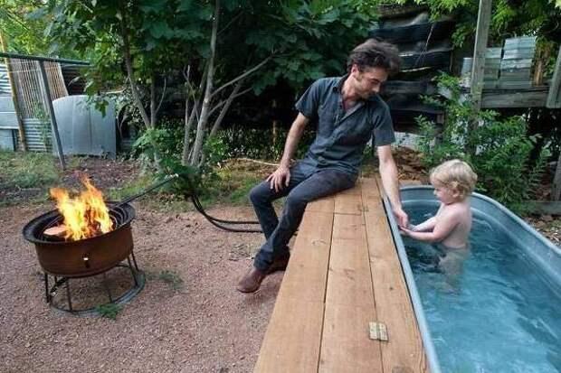 Самодельный металлический бассейн на даче своими руками фото