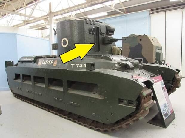 Британский танк Matilda II CDL в Танковом музее в Бовингтоне. | Фото: en.wikipedia.org.