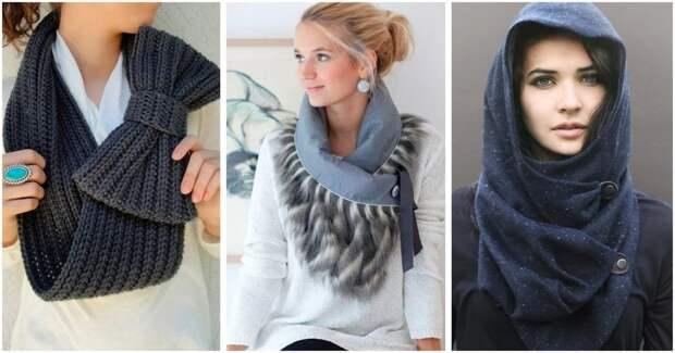 15 необычных шарфов, которые помогут оживить зимний образ