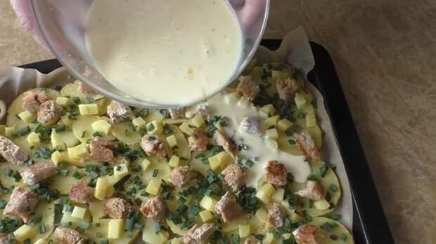 Удачный завтрак для всей семьи! Картофельная запеканка с колбасками Еда, Завтрак, Запеканка, Вкусно, Приготовление, Рецепт, Другая кухня, Видео, Длиннопост