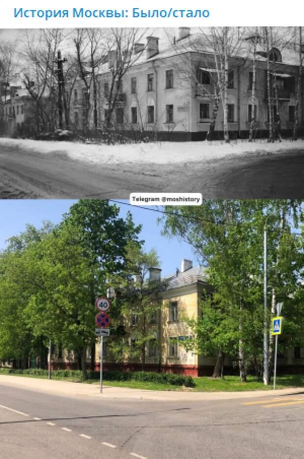 Фото дня: 1-й Войковский проезд на снимках с разницей в 32 года