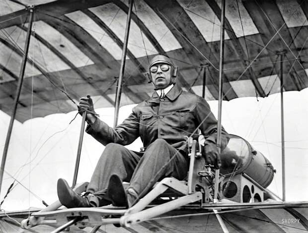 Самолеты и пилоты начала 20-го века на снимках американских фотографов (1)