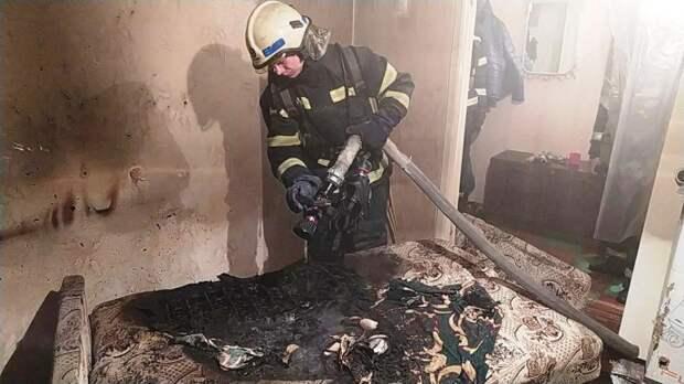 В Мелитополе при пожаре погиб мужчина