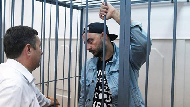 Режиссер Кирилл Серебренников на заседании Басманного суда в Москве. 23 августа 2017